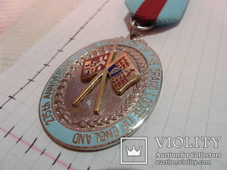 Масонская медаль 1992 год знак масон u193, фото №3
