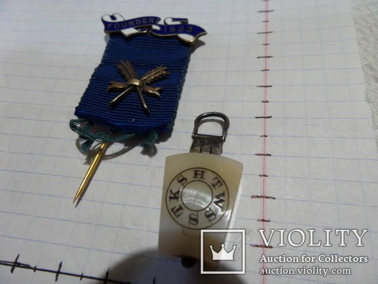 Масонская медаль FOUNDER знак масон 2367, фото №3