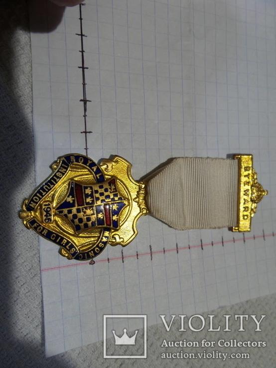 Масонская медаль 1946 год знак масон 1729, фото №2