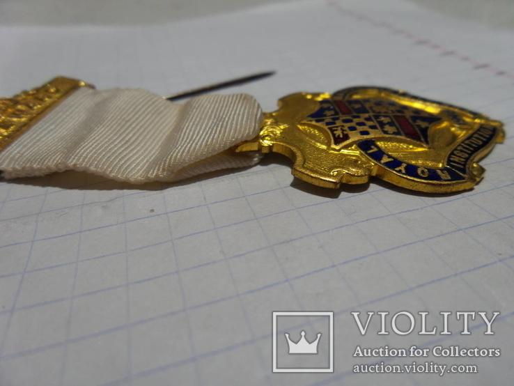 Масонская медаль 1946 год знак масон 1729, фото №4