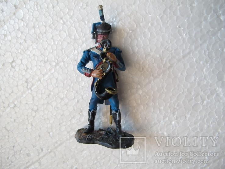 Гренадер Удино . Музыкант . Наполеон 65 мм Италия олово, фото №3
