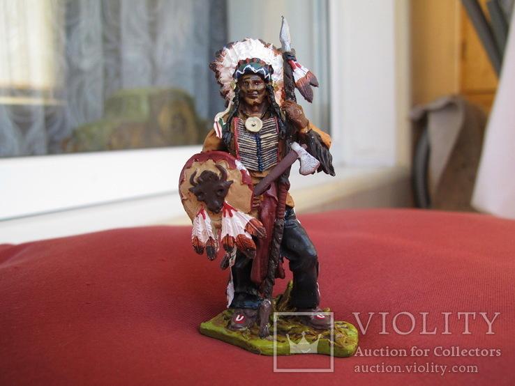 Sitting Bull индеец 80 мм олово  Италия, фото №2