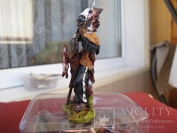 Sitting Bull индеец 80 мм олово  Италия, фото №4