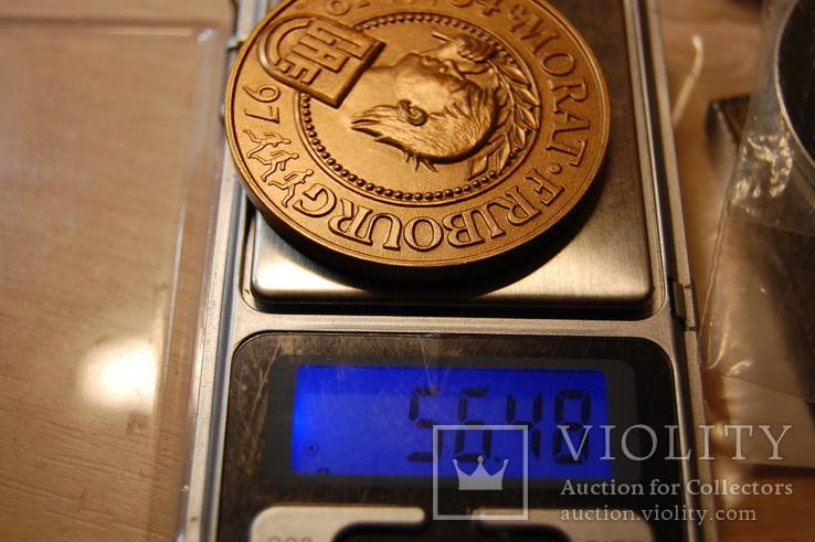 Медаль 1997 Швейцария. 64-й Марафон Morat Fribourg Murtenlauf. тяжелая, фото №8