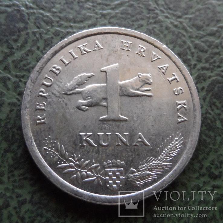 1 кун  2011  Хорватия    ($1.1.31)~, фото №3
