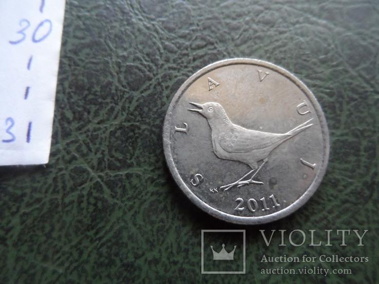 1 кун  2011  Хорватия    ($1.1.31)~, фото №4