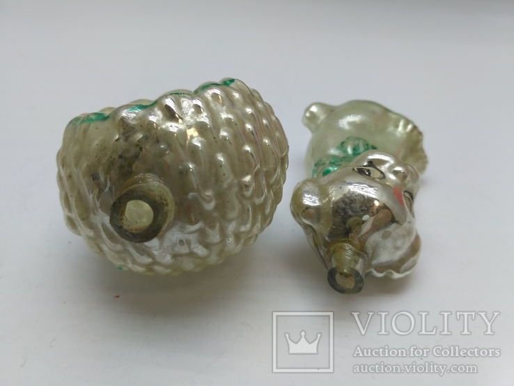 Набор ёлочных игрушек Толстое стекло, СССР, фото №4