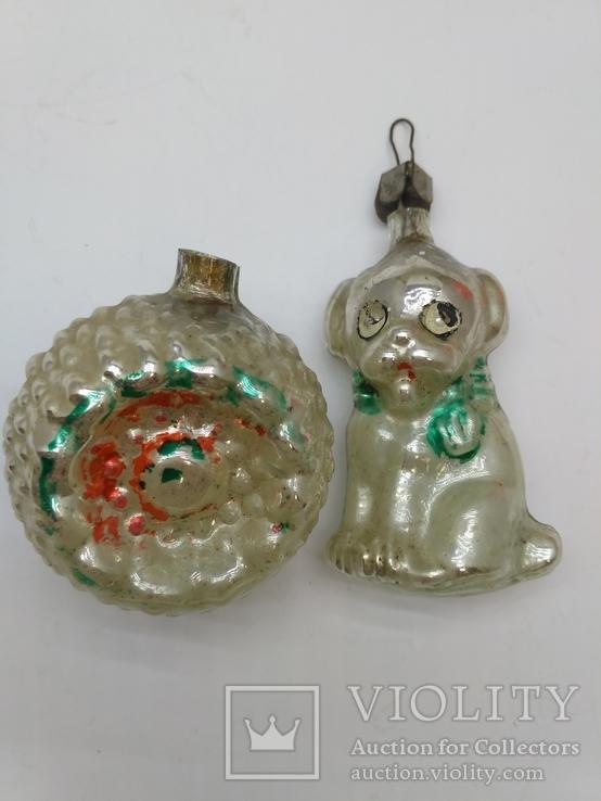 Набор ёлочных игрушек Толстое стекло, СССР