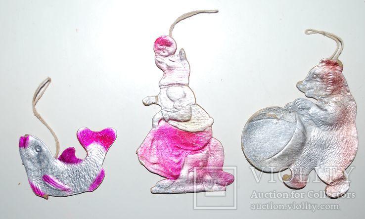 Картонаж - Лиса/колобок, Медведь с шаром, Рыбка., фото №3