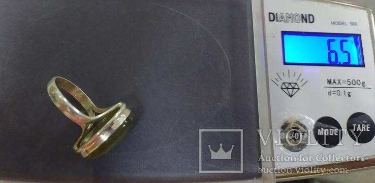 Серьги и кольцо с лабрадором. Лабрадор в серебре., фото №7