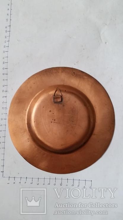 Сувенирная медная тарелка Краков, фото №4