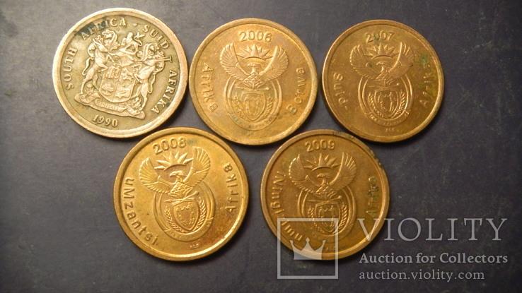 5 центів Південна Африка (порічниця) 5шт, всі різні