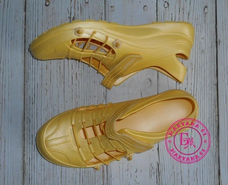 Новинка кроксы, аквашузы Steiner желтые 37 размер, фото №4