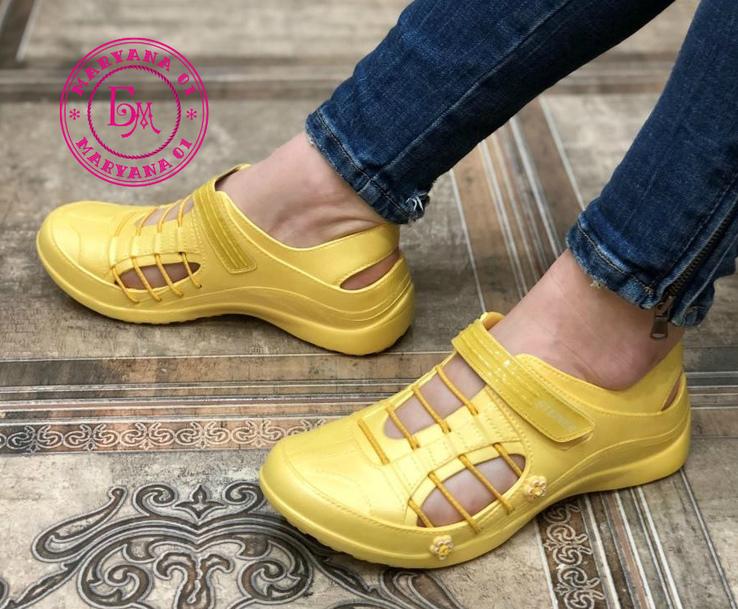 Новинка кроксы, аквашузы Steiner желтые 37 размер, фото №12