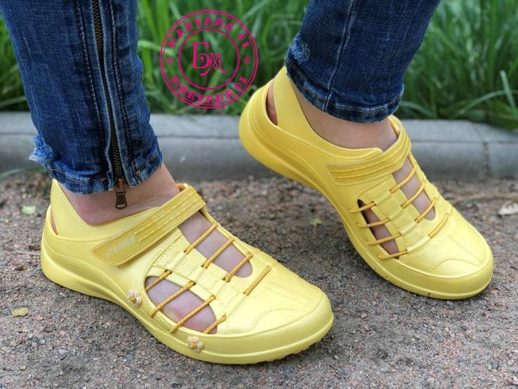 Новинка кроксы, аквашузы Steiner желтые 37 размер, фото №13