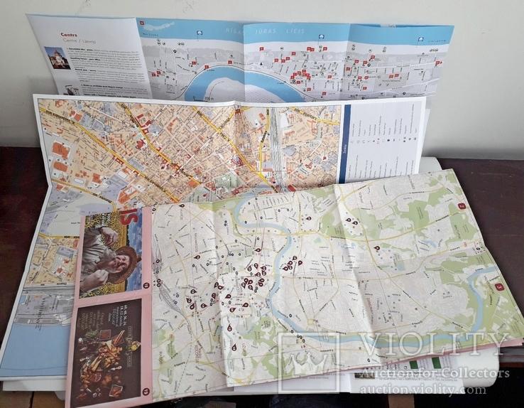 Прибалтика. Туристические карты 3 шт., фото №3