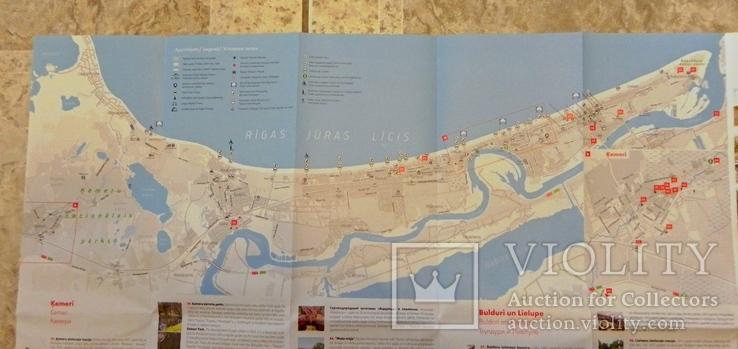 Прибалтика. Туристические карты 3 шт., фото №8