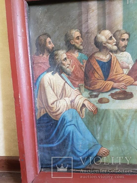 Икона Тайная вечеря на холсте, фото №3