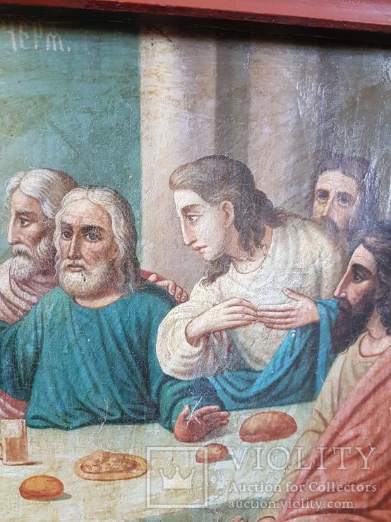 Икона Тайная вечеря на холсте, фото №11