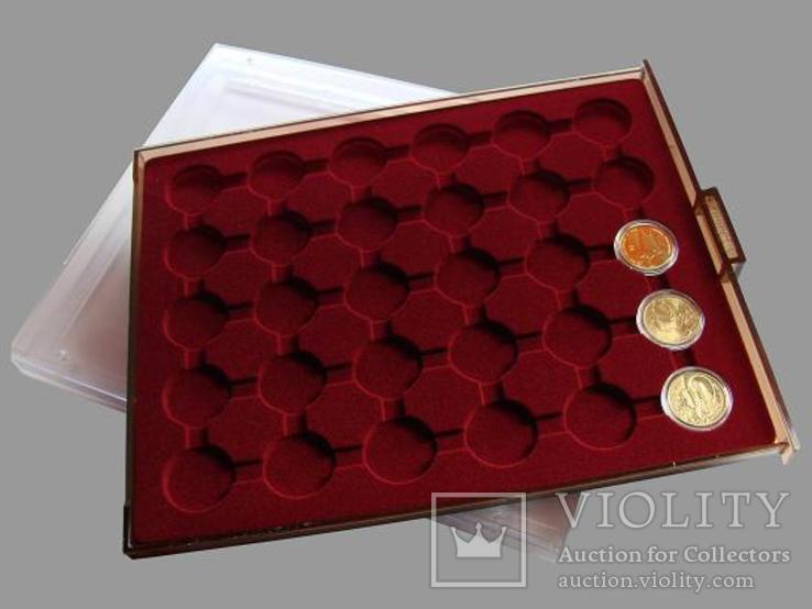 Бокс Бокс для монет диаметром до 32мм, Po30, 2 евро, фото №2