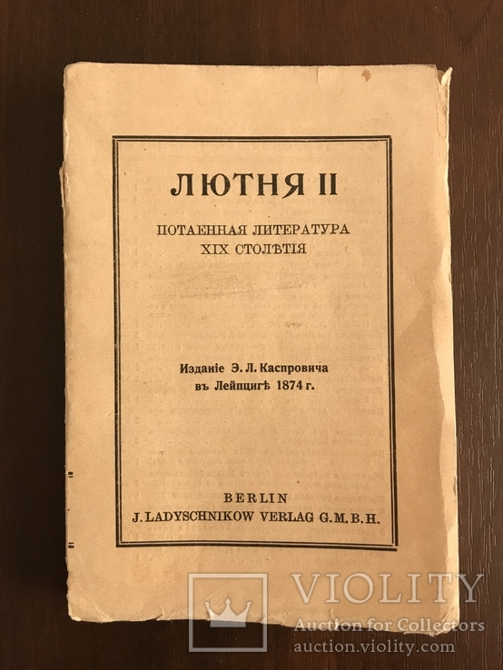 1874 Лютня Потаенная Литература 19 века