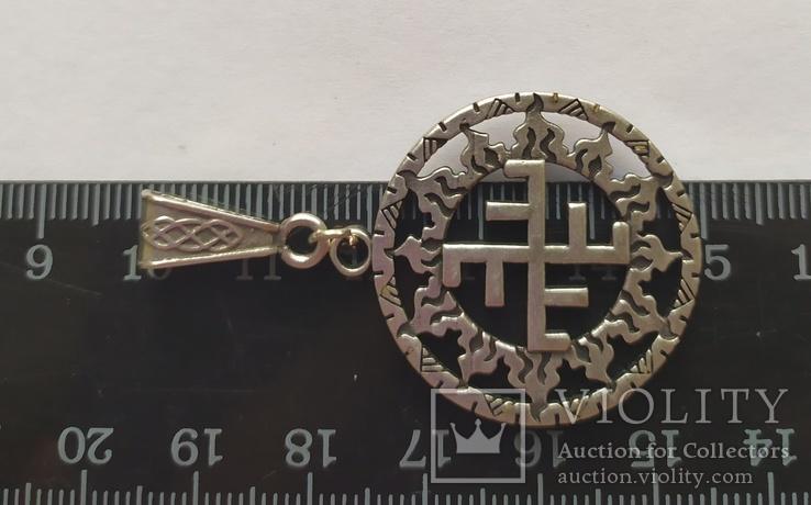 Славянский оберег. Солнечный крест в солнечном круге., фото №3