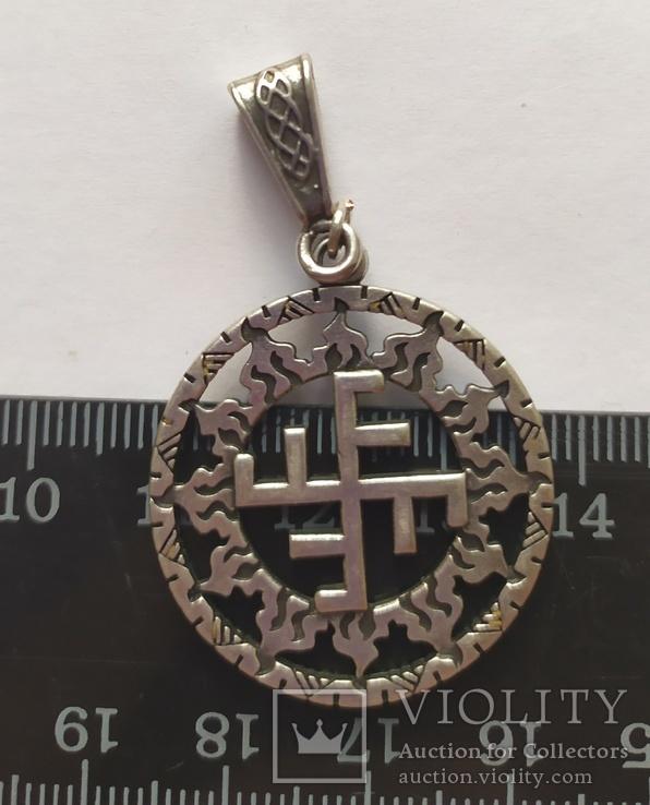 Славянский оберег. Солнечный крест в солнечном круге., фото №4