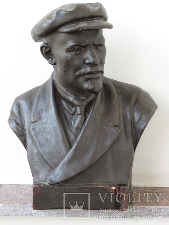 Бюст Ленина. Скульптура, Гжель., фото №3