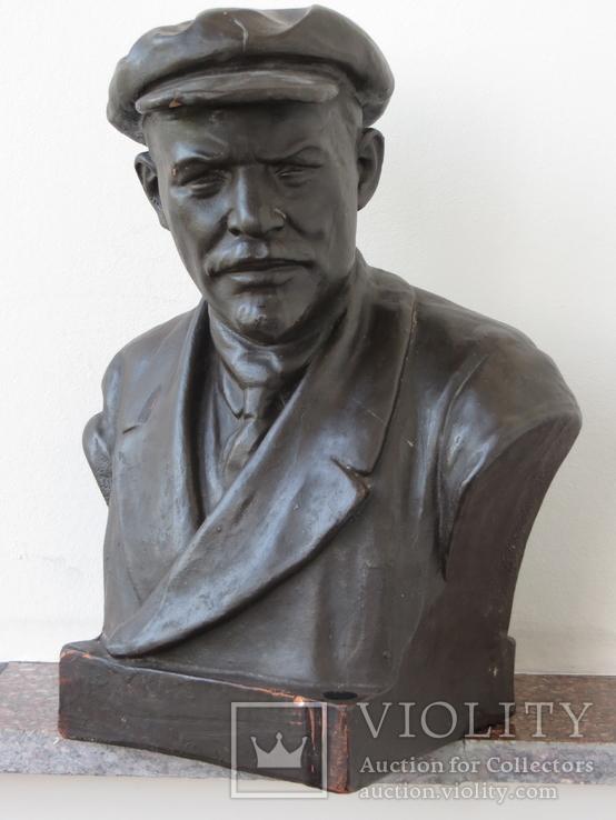 Бюст Ленина. Скульптура, Гжель., фото №2