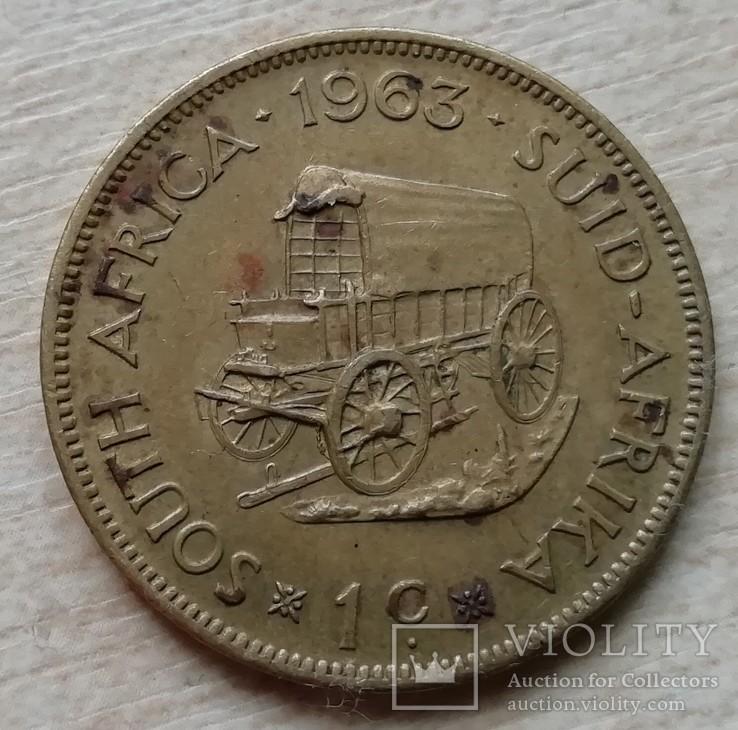 ЮАР 1 цент 1963 г., фото №3
