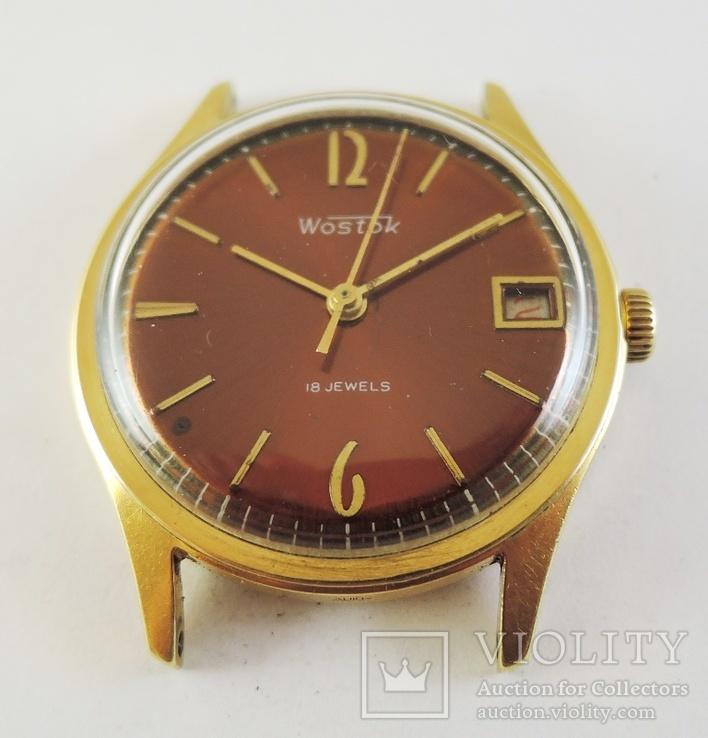 Часы Восток. Позолота AU10, фото №3