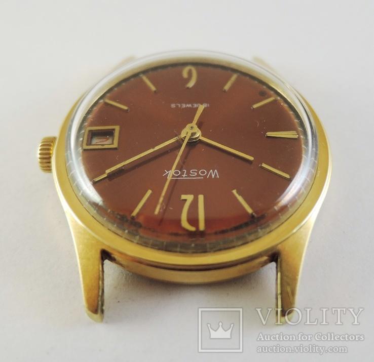 Часы Восток. Позолота AU10, фото №6
