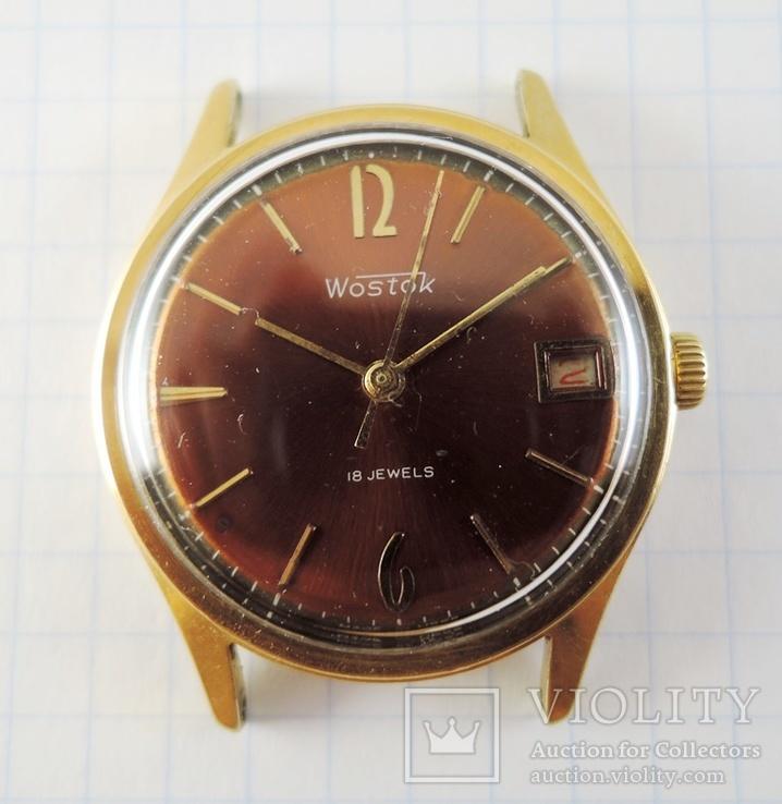 Часы Восток. Позолота AU10, фото №13