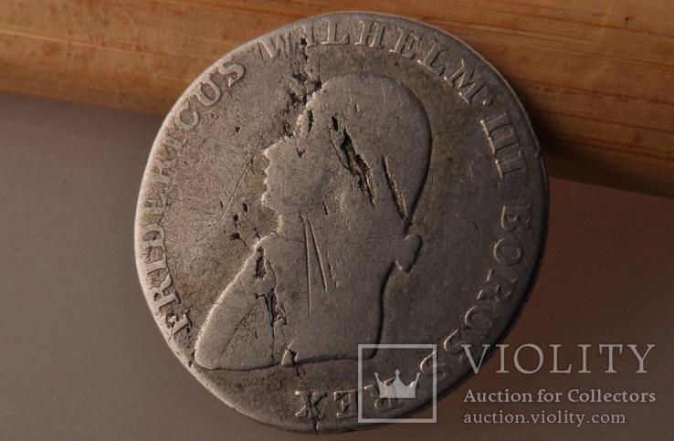 4 гроша 1805 года. Пруссия, Фридрих Вильгельм III. Серебро., фото №3