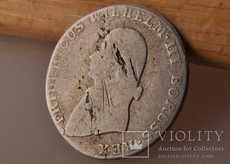 4 гроша 1805 года. Пруссия, Фридрих Вильгельм III. Серебро., фото №5