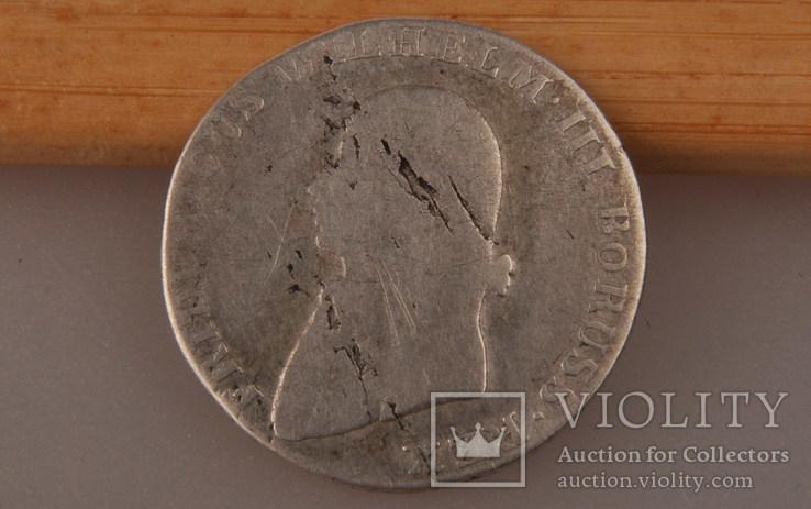 4 гроша 1805 года. Пруссия, Фридрих Вильгельм III. Серебро., фото №6