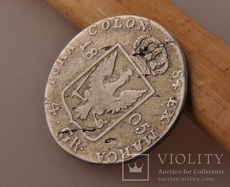 4 гроша 1805 года. Пруссия, Фридрих Вильгельм III. Серебро., фото №9