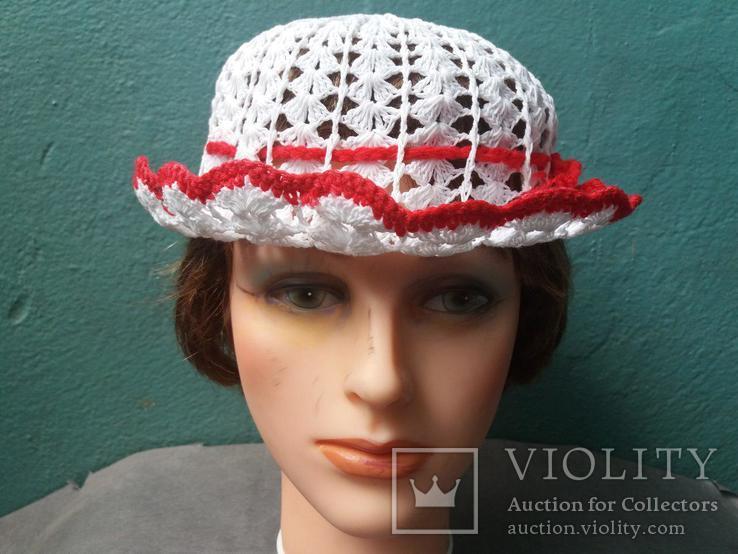 Вязанная женская шляпка, фото №2