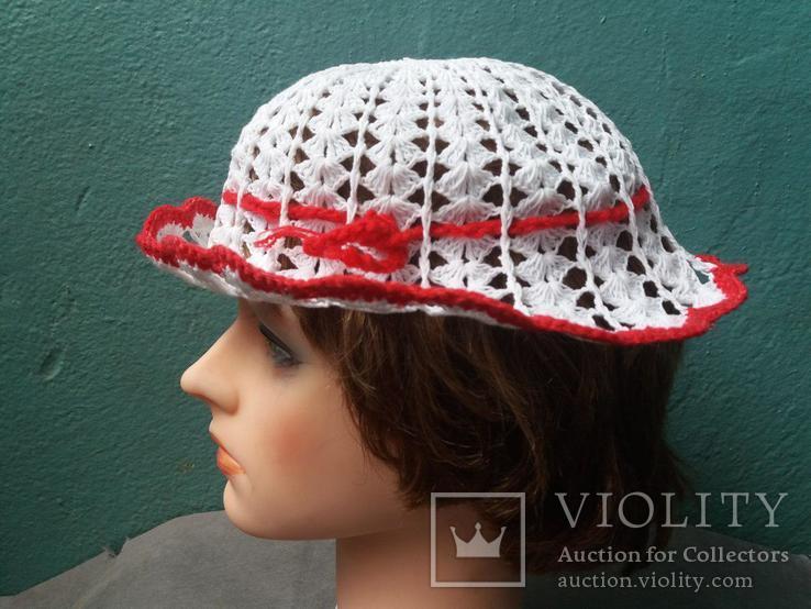 Вязанная женская шляпка, фото №3