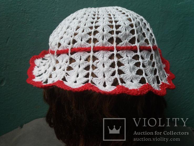 Вязанная женская шляпка, фото №4