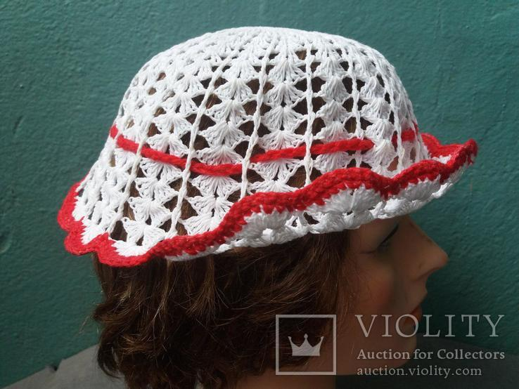 Вязанная женская шляпка, фото №5