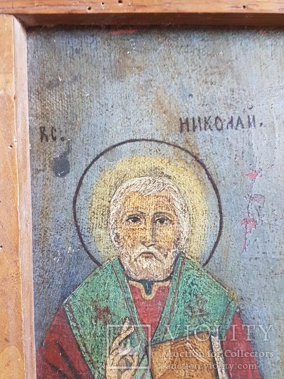 Икона Св.Николай, Богородица, Св.Варвара, Иисус Христос, фото №4