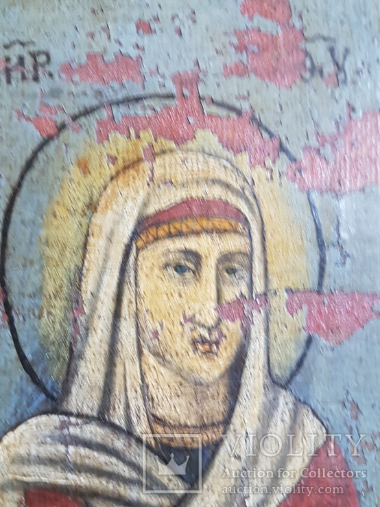 Икона Св.Николай, Богородица, Св.Варвара, Иисус Христос, фото №8