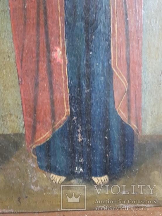 Икона Св.Николай, Богородица, Св.Варвара, Иисус Христос, фото №11