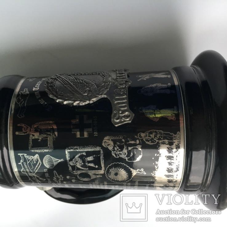 Коллекционная пивная кружка Люфтваффе Парашютисты Германия Лимитированная серия, фото №5