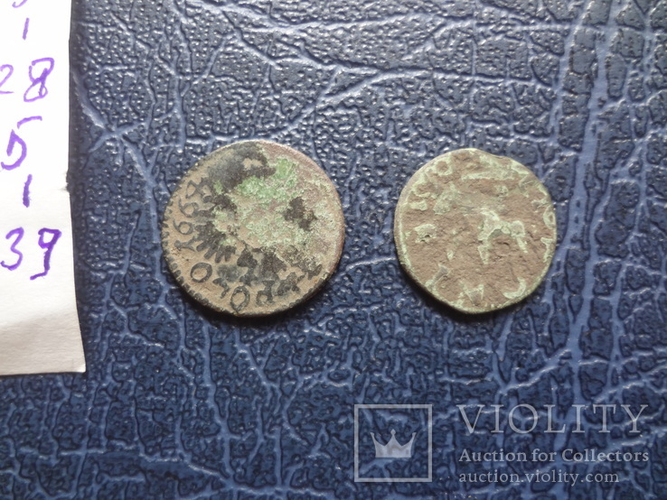 Солид боратинка 1664 + фальшак    ($5.1.39)~, фото №5