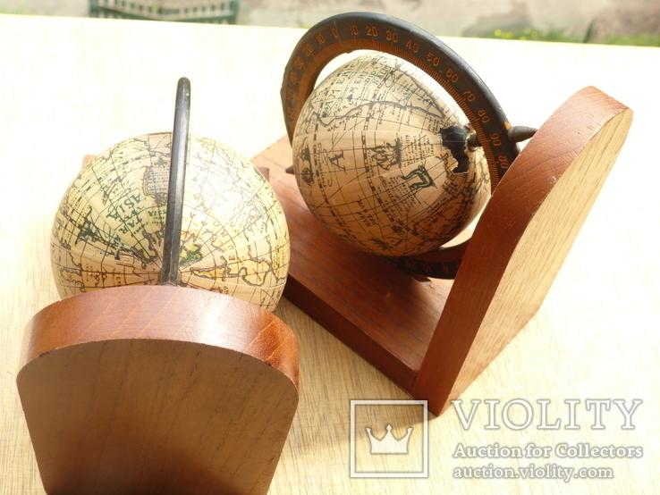 Букенды - 2 упора для книг - германия - ретро глобус, фото №5