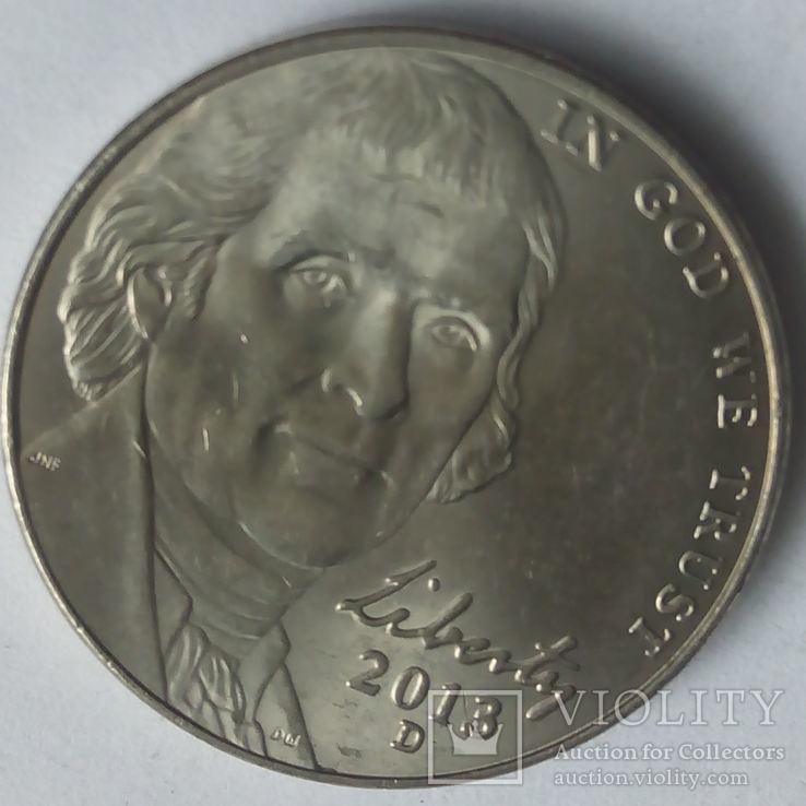 США 5 центов 2013 D, фото №2