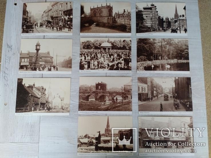 Открытки Rotherham. 11штук. Изоброжены 1905-1920г. Чистые., фото №2