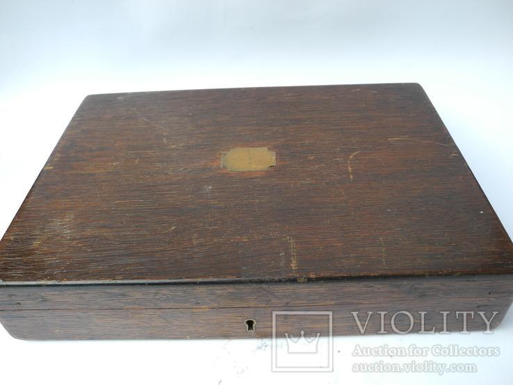 Старинный Столовый Набор на 12 персон ( Перламутр , Штихель , Англия ), фото №13